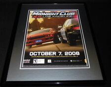 Midnight Club Los Angeles 2008 PS3 XBox Framed 11x14 ORIGINAL Advertisement