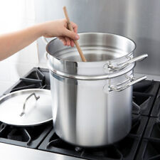 New Vigor 12 Qt 22 GA Stainless Steel Aluminum-Clad Double Boiler Professional