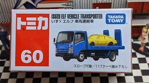 TOMICA #60 ISUZU ELF VEHICLE TRANSPORTER NEW IN BOX