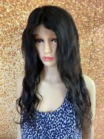 18 INCH HUMAN HAIR LACE FRONT CLOSURE FULL WIG REMY VIRGIN LOOSE WAVY INDIAN