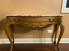 Weiman-French Provincial Marble Top Sofa Table