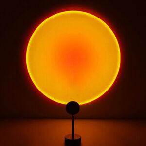 Sunset Lamp: Sunset Projection Lamp, LED Light, Night Light, USB, 180 Rotation
