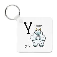 Letter Y Is For Yeti Keyring Key Chain - Alphabet Cute Animal Funny
