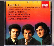 BACH- Violin Concertos- Barenboim- EMI CD- Itzhak Perlman/Pinchas Zukerman/ECO