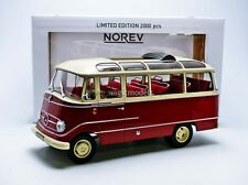 Norev 1965 Mercedes Benz O319 Red and Beige LE of 2000 1/18 Scale New! In Stock