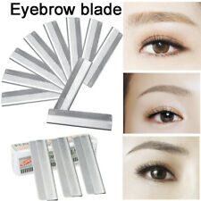 Eyebrow Razor Trimmer Blade Stainless Steel Facial Tool Hair Remover 10pc