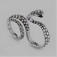 John Hardy Sterling Silver & Gold Cobra Dot Knuckle Two Finger Ring - Size 7 & 8