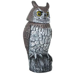 Owl Falcon Cat Decoy Prey Bird Repellent Garden Ornaments Pest Control Deterrent