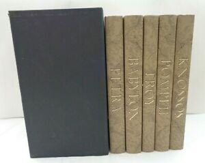 2005 Folio Society Lost Cities of the Ancient World complete set illustrated