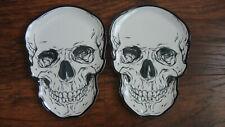 Halloween decor set of 2 Skull Figural Melamine Plates