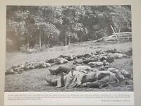 VINTAGE 11X14 PHOTO THE AMERICAN CIVIL WAR BATTLE OF GETTYSBURG, 1863 JULY 1-3