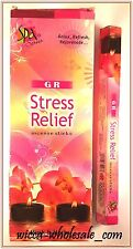 Lot Of 120 Sticks Stress Relief Incense Gr 1 Box 6 Tube Of 20 Sticks Free Ship