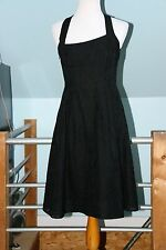 NANETTE LEPORE SZ 6 Rayon/Nylon Lace Black Fit and Flare Dress Crossover Straps