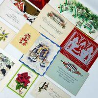 Vintage Ephemera Lot Junk Journals 12 Mixed Media CHRISTMAS Greeting Cards USED