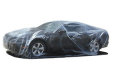 CAR COVER Fits 12.5 X 22 (MEDIUM) CLEAR PLASTIC TEMPORARY UNIVERSAL DISPOSABLE