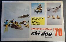 1970 SKI-DOO T'NT, OLYMPIQUE, NORDIC & MORE SNOWMOBILE OPERATORS MANUAL (415)