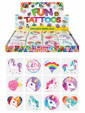 72 Unicorn Temporary Tattoos - Pinata Toy Loot/Party Bag Fillers Wedding/Kids