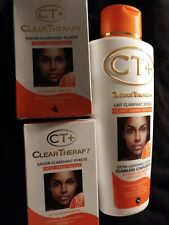 2 Ct Clear Therapy Lightening Purifying Soaps 175g & 1 lotion 500ml W Carrot Oil