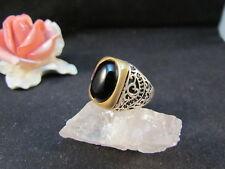 Silberring Männerring Siegelring Ring Sterlingsilber 925 Handarbeit Onyx Gr65
