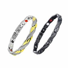 Unisex Weight Loss Magnetic Stainless Steel Slimming Therapy Bracelet Chain