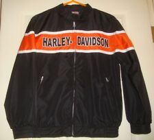 HARLEY/DAVIDSON~boys~EMBROIDERED/RACING/lined/BLACK/JACKET! (M~12/14) BRAND/NEW!