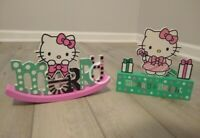 2x New Hello Kitty Sanrio Table Decor Merry Christmas Holiday Wooden Sign