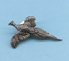 More details for a.e. williams pheasant fine british pewter lapel hat pin bird gift
