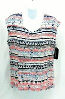 Nine Four One Womens Top Sleeveless Multi Colored Size Large