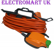 13A HEAVY DUTY ORANGE MAINS EXTENSION CABLE OUTDOOR GARDEN 1 GANG SOCKET IP54