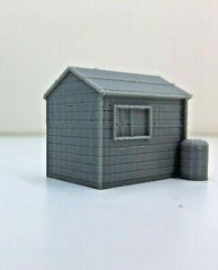 MODEL RAIL SCENERY 'GARDEN SHED'  © 'N' GAUGE 3D PRINTED  UNPAINTED BIN £3.95