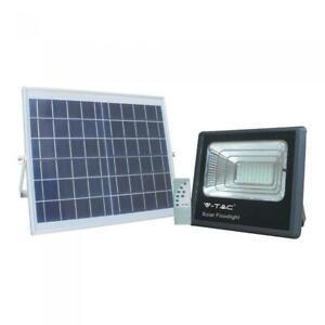 FARO ENERGIA SOLARE LED CON PANNELLO FARETTO ESTERNO RICARICABILE 100W IP65