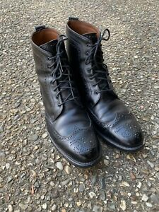 "Allen Edmonds ""DALTON"" Men's Leather Wingtip Boots 11.5 D Black"
