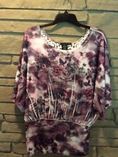 NWOT SIMPLY IRRESISTIBLE, LACE BACK, SIZE L,MULTI COLORS