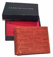 Men's Tommy Hilfiger - Textured Leather Lite L Brown Tan Pocket Wallet
