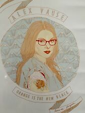 FRAMED ALEX VAUSE ORANGE IS THE NEW BLACK ART LAURA PREPON PRINT POSTER FRANKIE