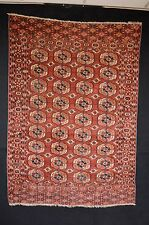 FABULOUS 1870'S !! TEKKE TURKMEN RUG WITH RARE SECONDARY GHULS TURKOMAN