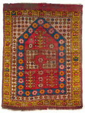 A small and rare early 19th Century Anatolian Turkish Bergama Prayer Rug