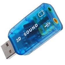 ADAPTADOR TARJETA DE SONIDO USB 2.0 AUDIO 5.1 SALIDA JACK 3,5 mm Y ENTRADA MICRO