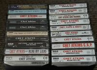Lot of 20 album ALL CHET ATKINS Cassette Tapes Audio Excellent Condition Tested