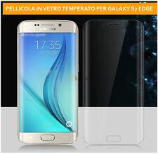 Pellicola  Vetro Temperato Curvo per Samsung Galaxy S7 Edge PROTEZIONE AL 100%