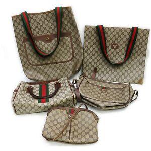 Gucci PVC Shoulder Bag Hand Bag Tote Bag 5 pieces set 519346