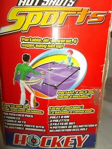 Hot Shots Sports Portable Air Powered Table Hockey Game for 8+