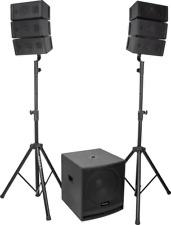"IBIZA CUBE15A-ARRAY LINE ARRAY Aktiv PA Anlage Lautsprecher Set 15"" Subwoofer DJ"