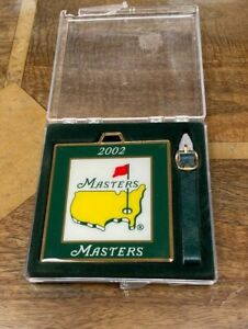 Genuine Augusta National Masters Bag Tag 2002 Tiger Woods