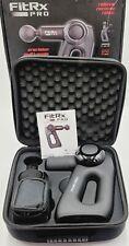 Tzumi FitRx Pro Handheld Therapeutic Percussion Muscle Massage Gun & Accessories