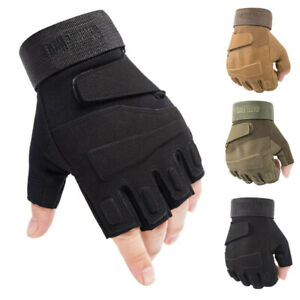 Tactical Military Half Finger Gloves Outdoor Sports Shooting Hunting Fingerless