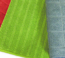 Bambury Retreat 3 Pack Microfibre Towels | 4 Colours Chilli, Slate, Stone & Lime