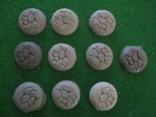 Pack of 10 Resin 30mm Round NATURAL STONE bases , D&D RPG's Pulp & Fantasy Games