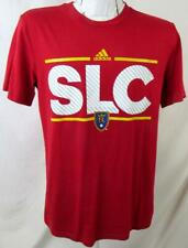 "Real Salt Lake Mens S M or 3XL Short Sleeve Screened ""SLC"" Climalite Tee RSL 3"