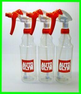 Autoglym 3 x Calibrated Trigger Spray Bottle 500ml Valeting Free P & P